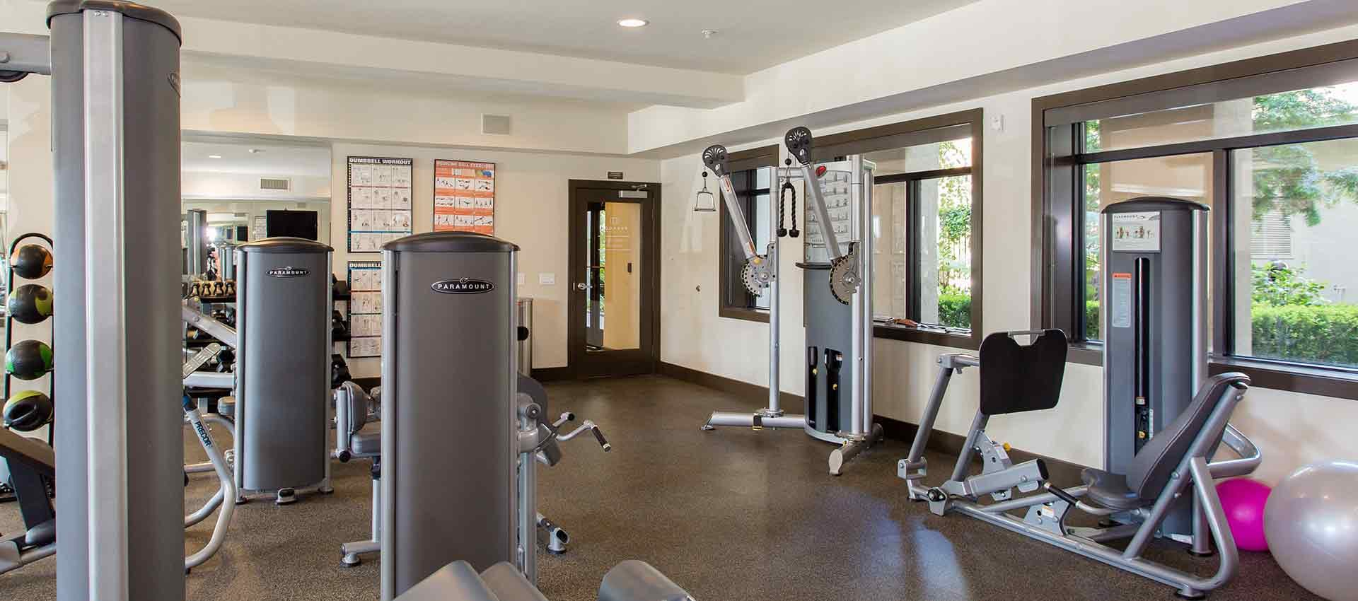Fitness center at Paragon at Old Town in Monrovia