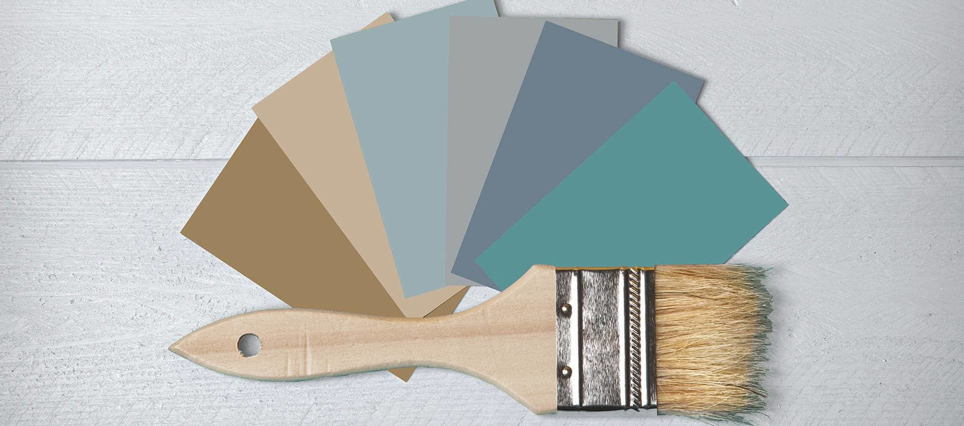 Paint Swatches at Hidden Lake Condominium Rentals in Sacramento
