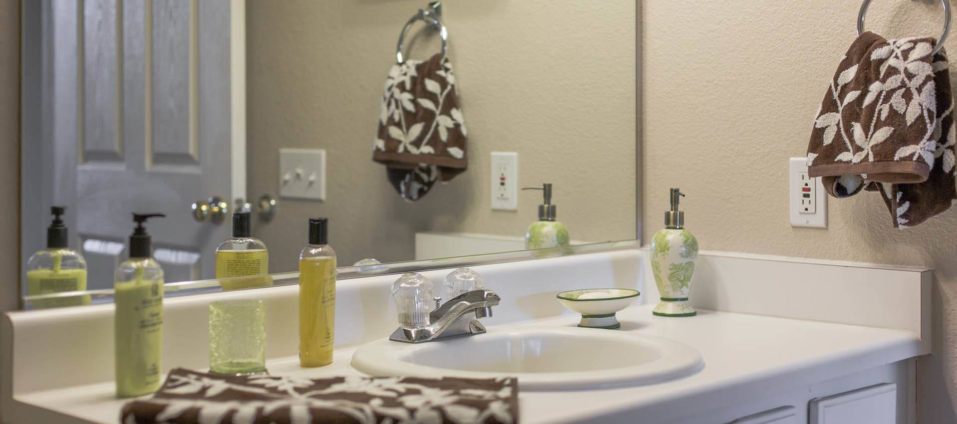 Your new bathroom at Alicante Apartment Homes in Aliso Viejo, CA