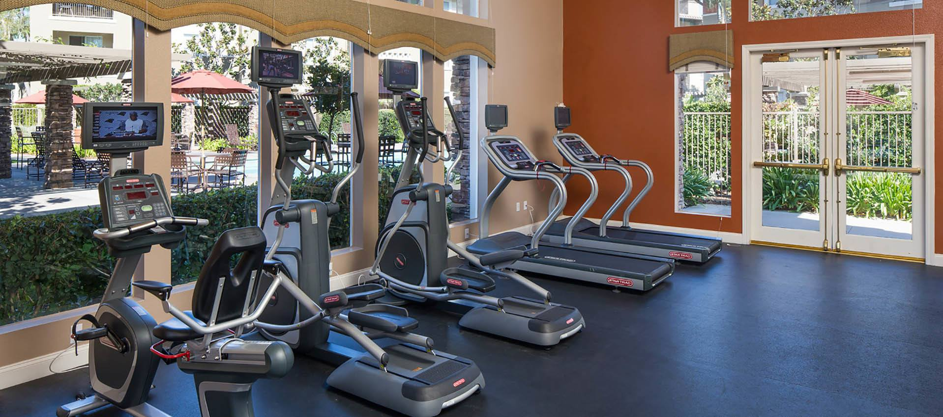 The exercise rooms are awesome at Alicante Apartment Homes in Aliso Viejo, CA
