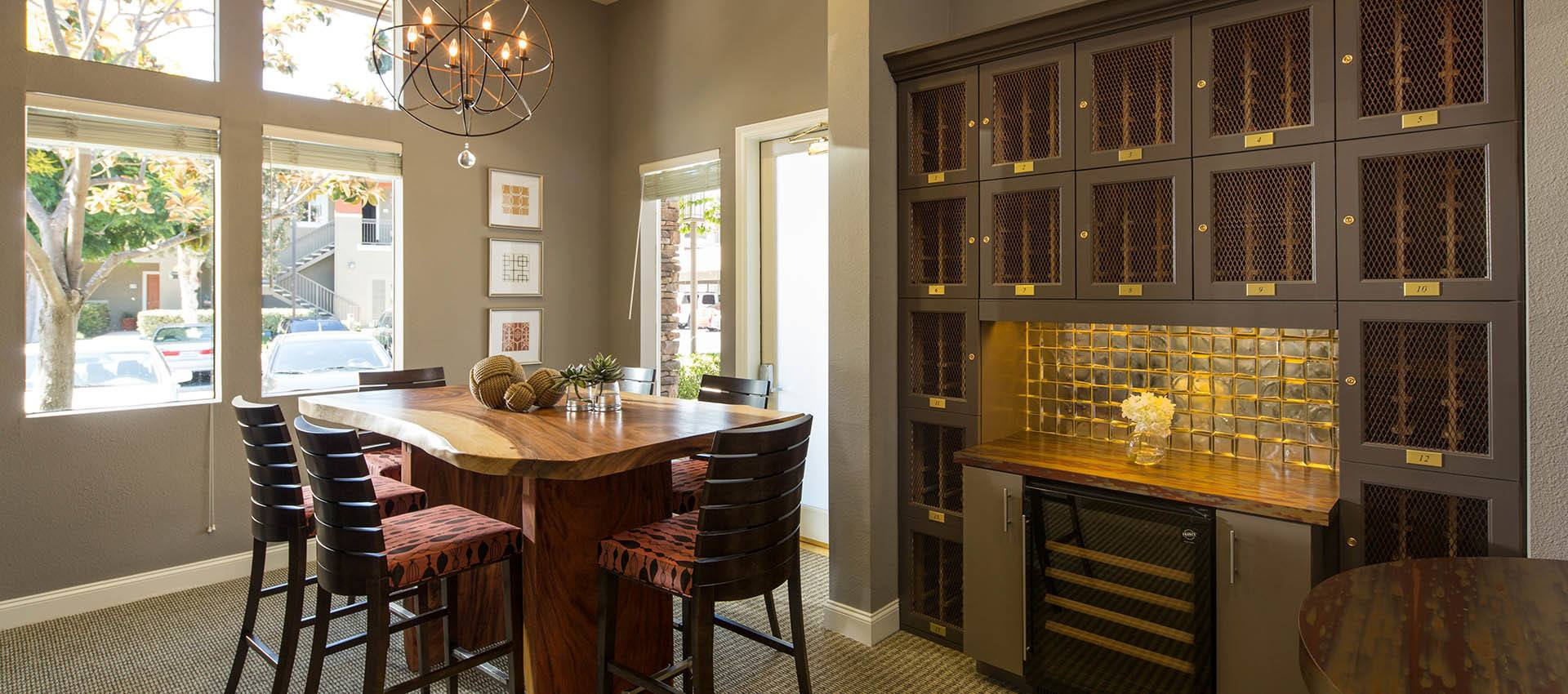 Private Wine Room With Lockers Amenities Gallery