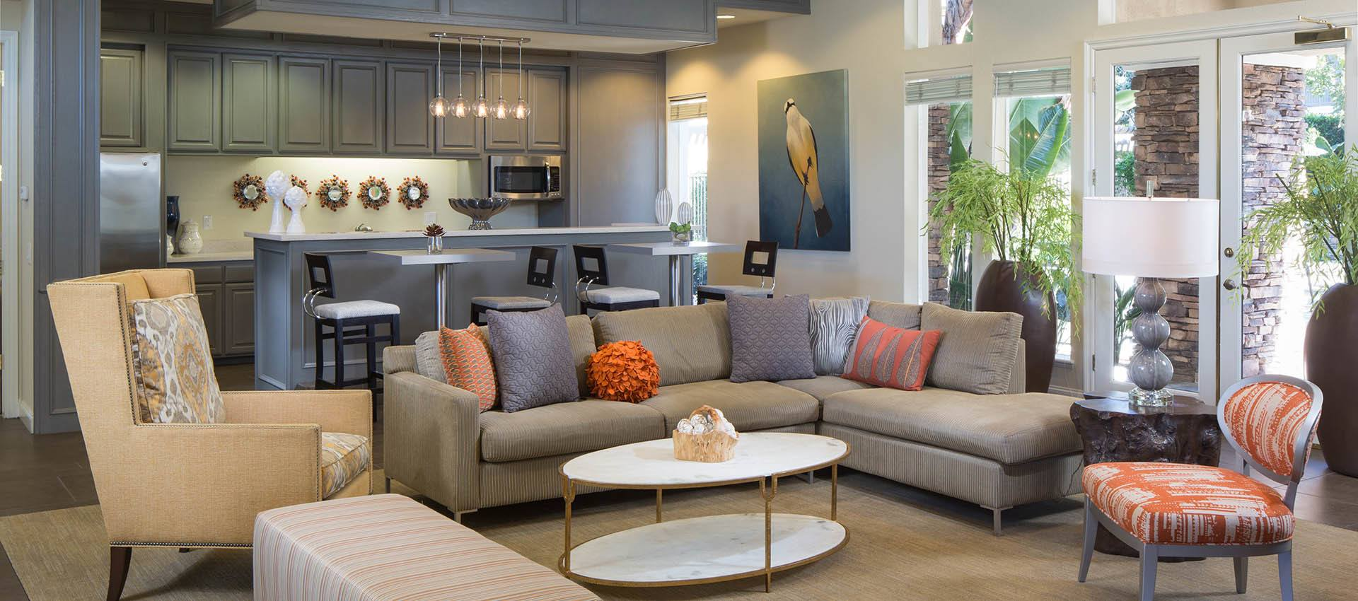 Resident's Clubhouse With Kitchen Amenities Gallery