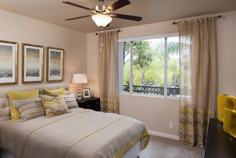 Bedroom With Ceiling Fan at Alize at Aliso Viejo Apartment Homes