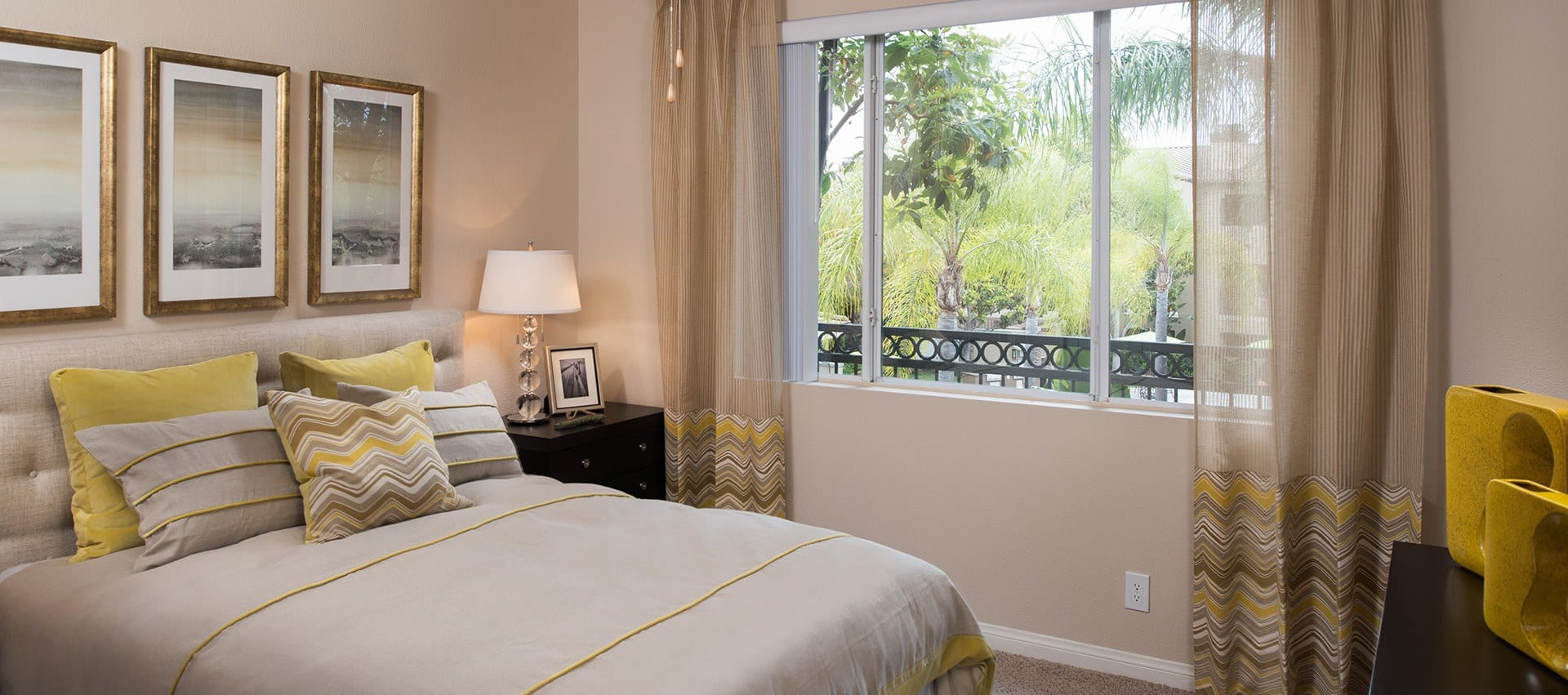 Comfy Bedroom in Alize at Aliso Viejo Apartment Homes in Aliso Viejo, California