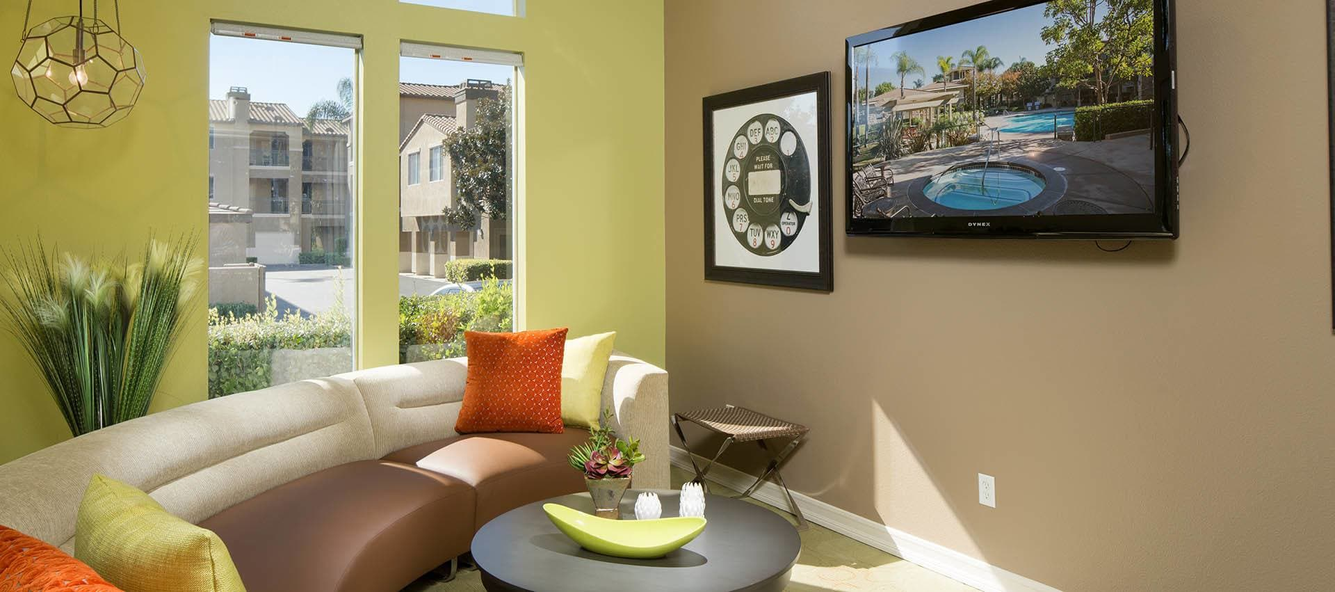 Flat Screen Tv On Wall in Alize at Aliso Viejo Apartment Homes in Aliso Viejo, California