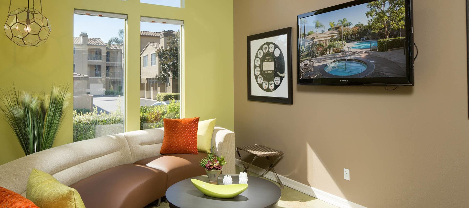 Screening Gaming Room at Alize at Aliso Viejo Apartment Homes in Aliso Viejo, California
