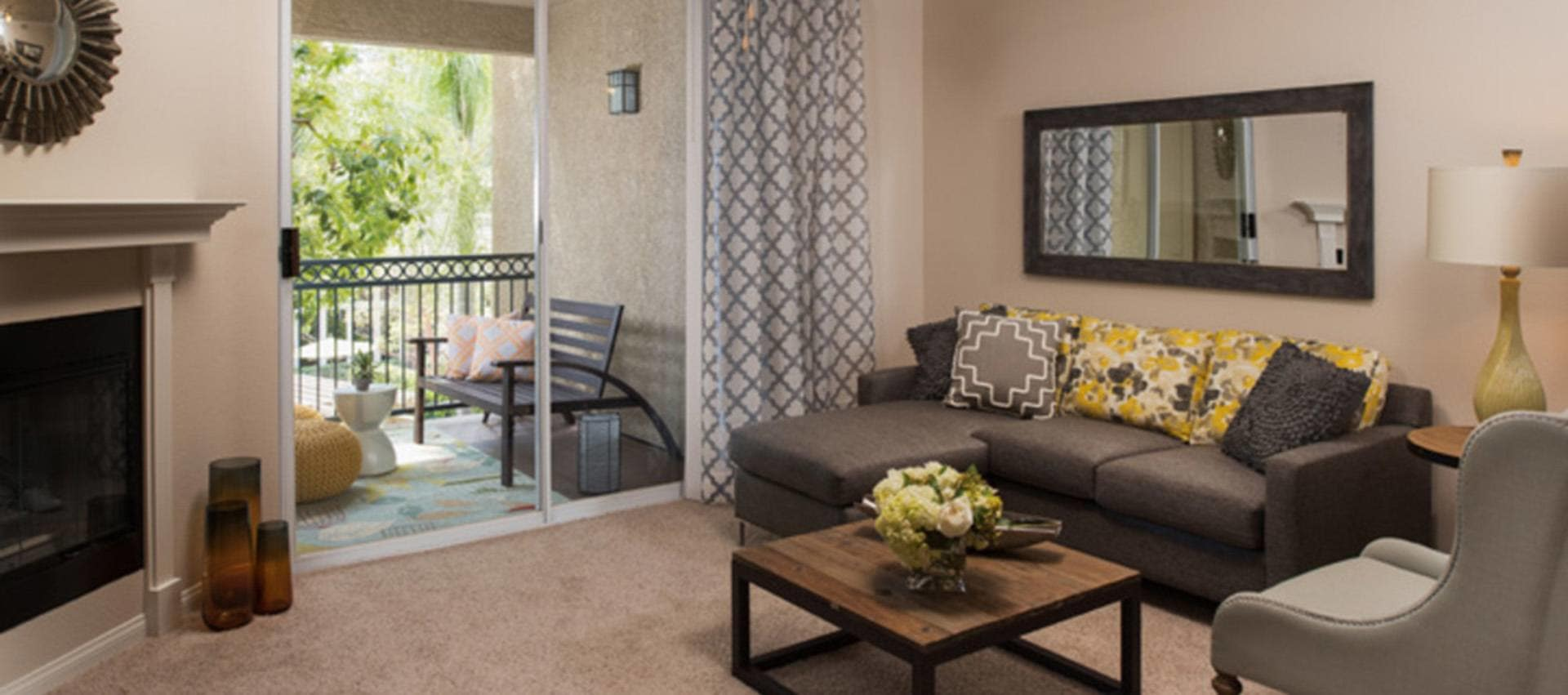 Spacious Living Room in Alize at Aliso Viejo Apartment Homes in Aliso Viejo, California