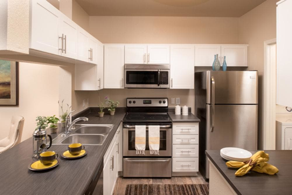 Stainless Appliances In Kitchen at Alize at Aliso Viejo Apartment Homes