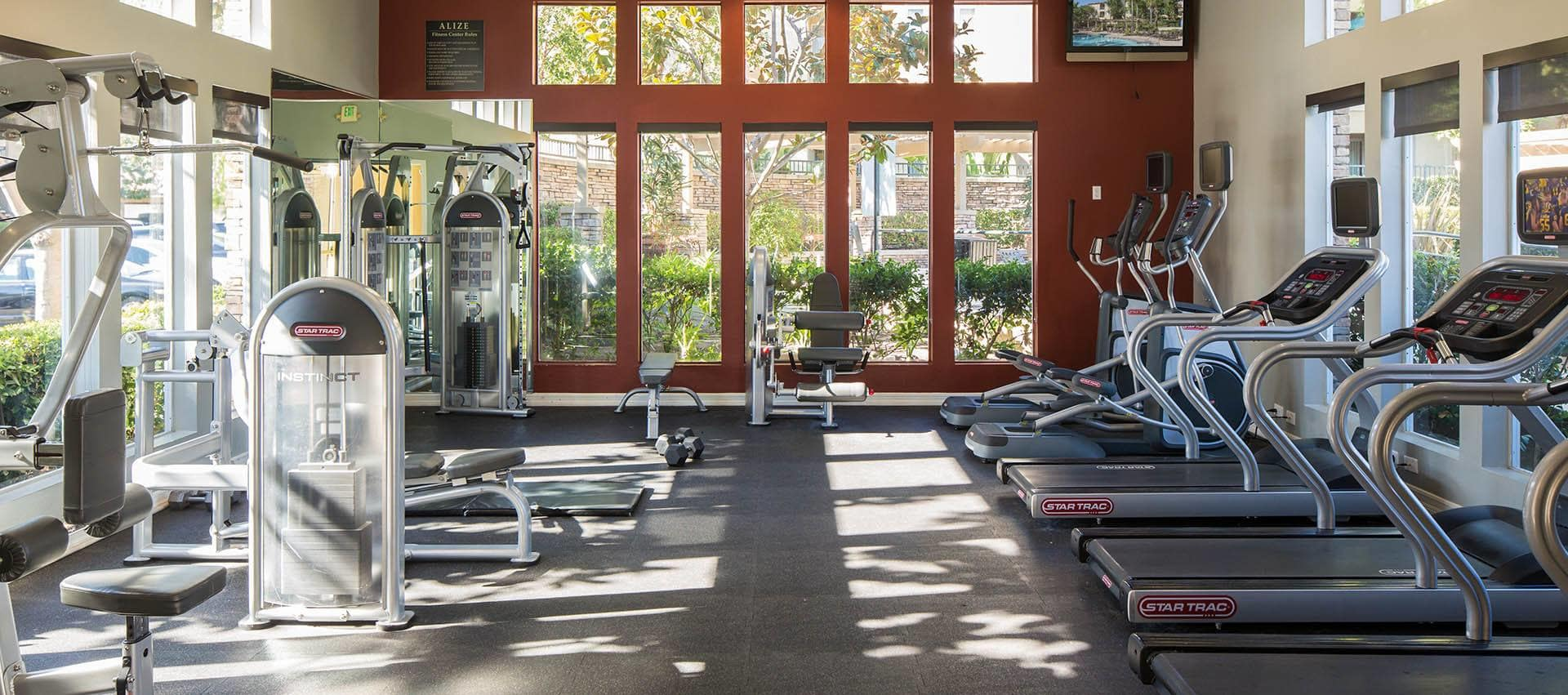Well Equipped Fitness Center in Alize at Aliso Viejo Apartment Homes in Aliso Viejo, California