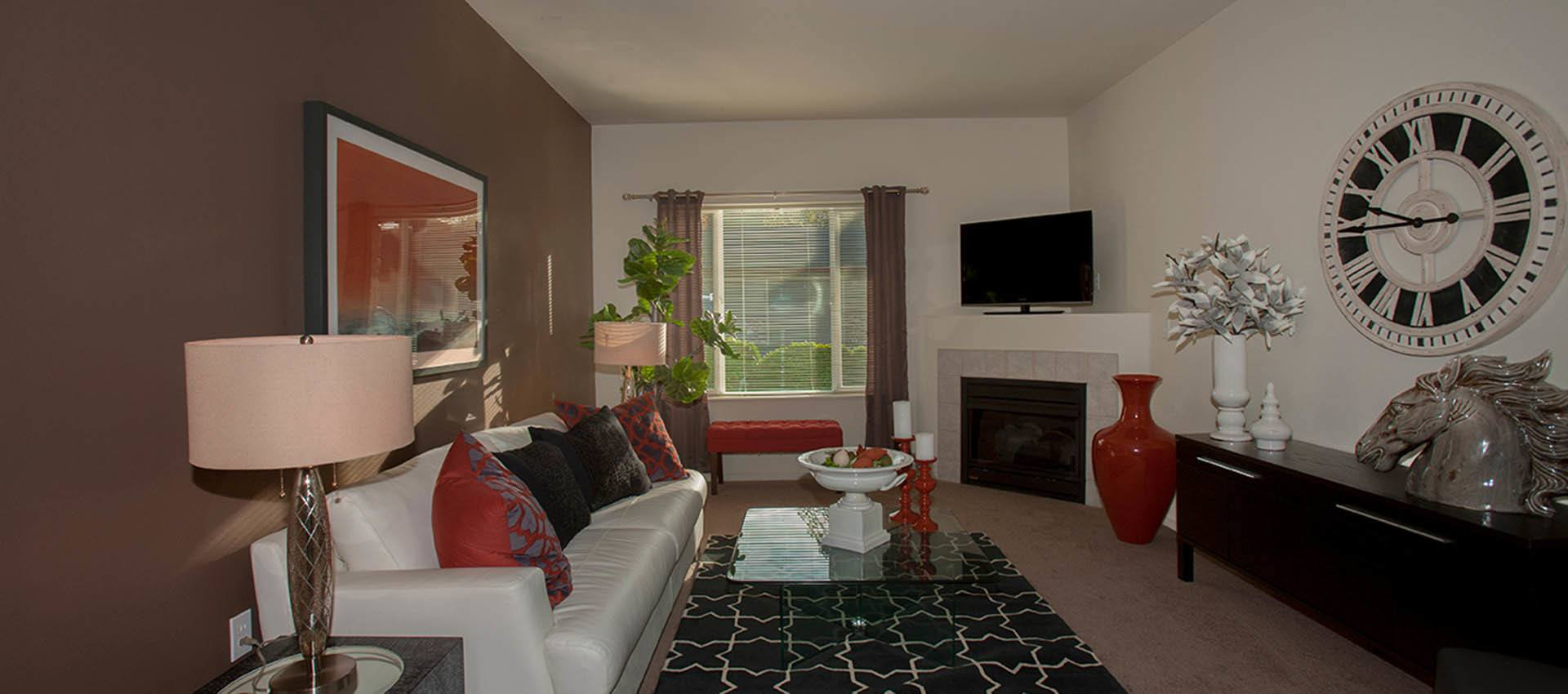 Living Room In Standard Residence at Altamont Summit in Happy Valley, OR