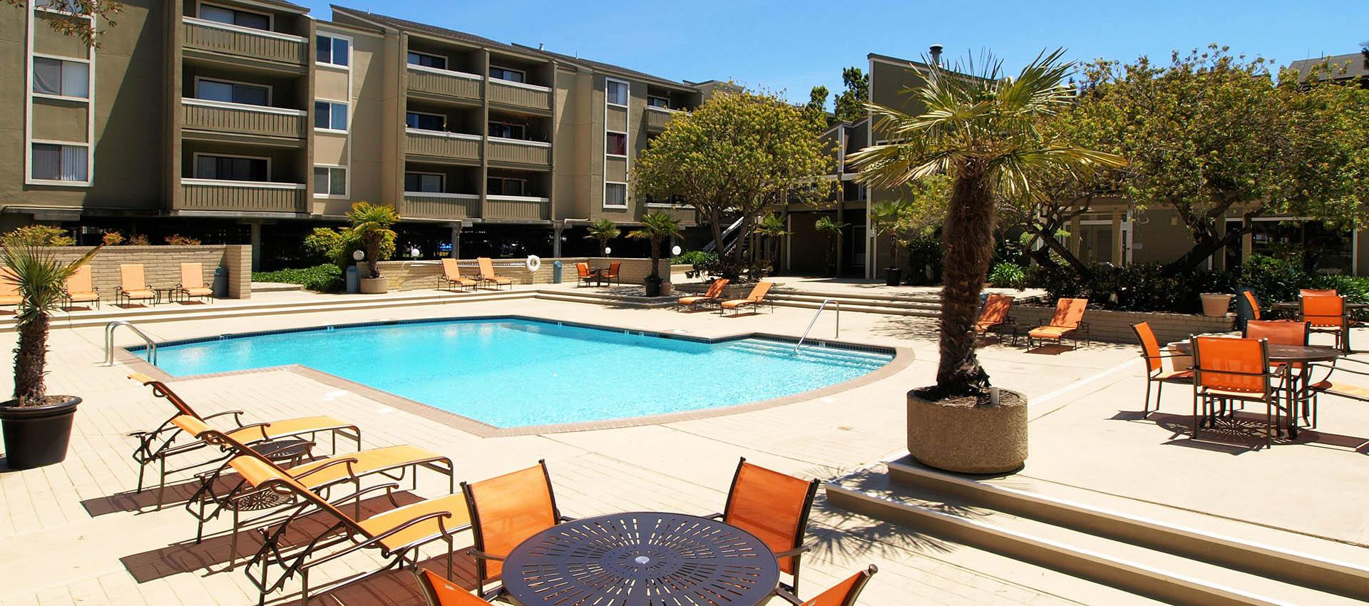 Pool at apartments in Alameda, CA