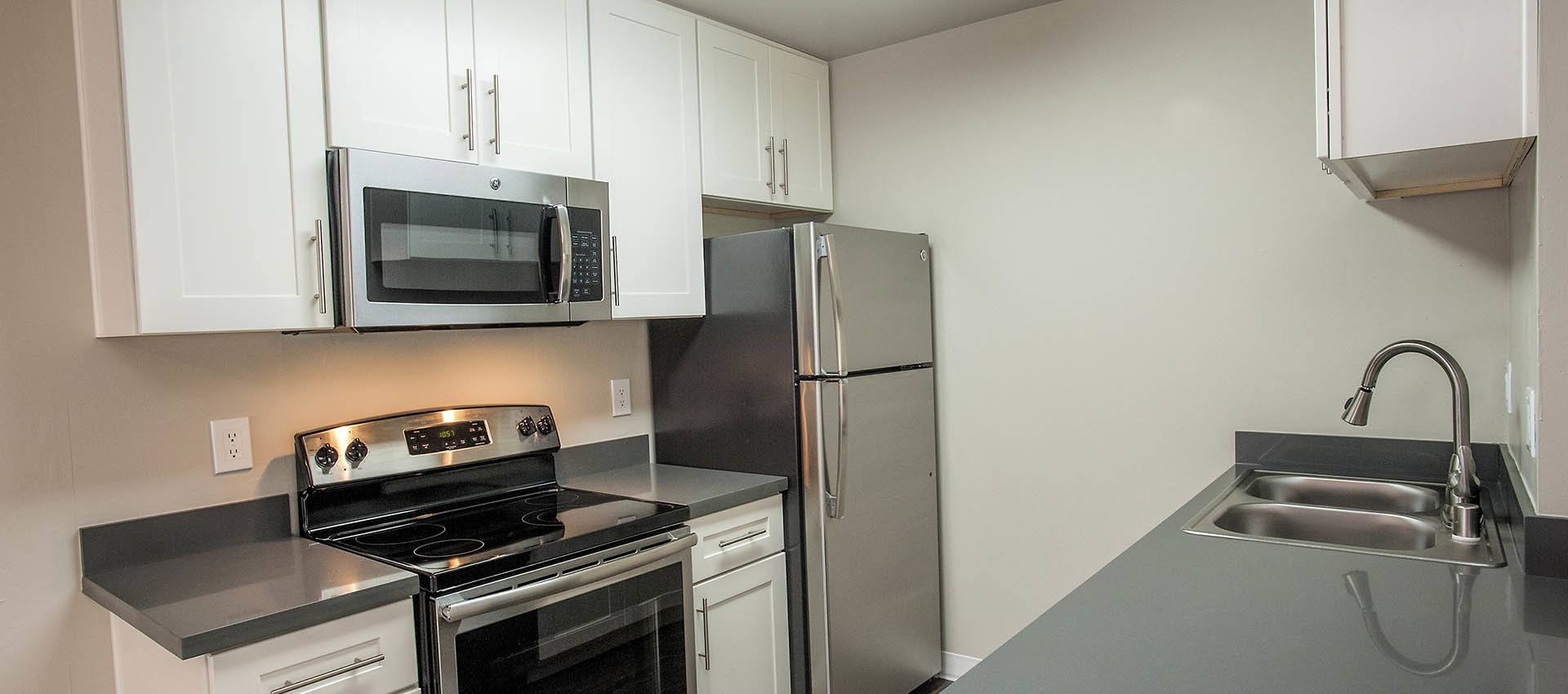 Kitchen at Ballena Village Apartment Homes in Alameda, CA