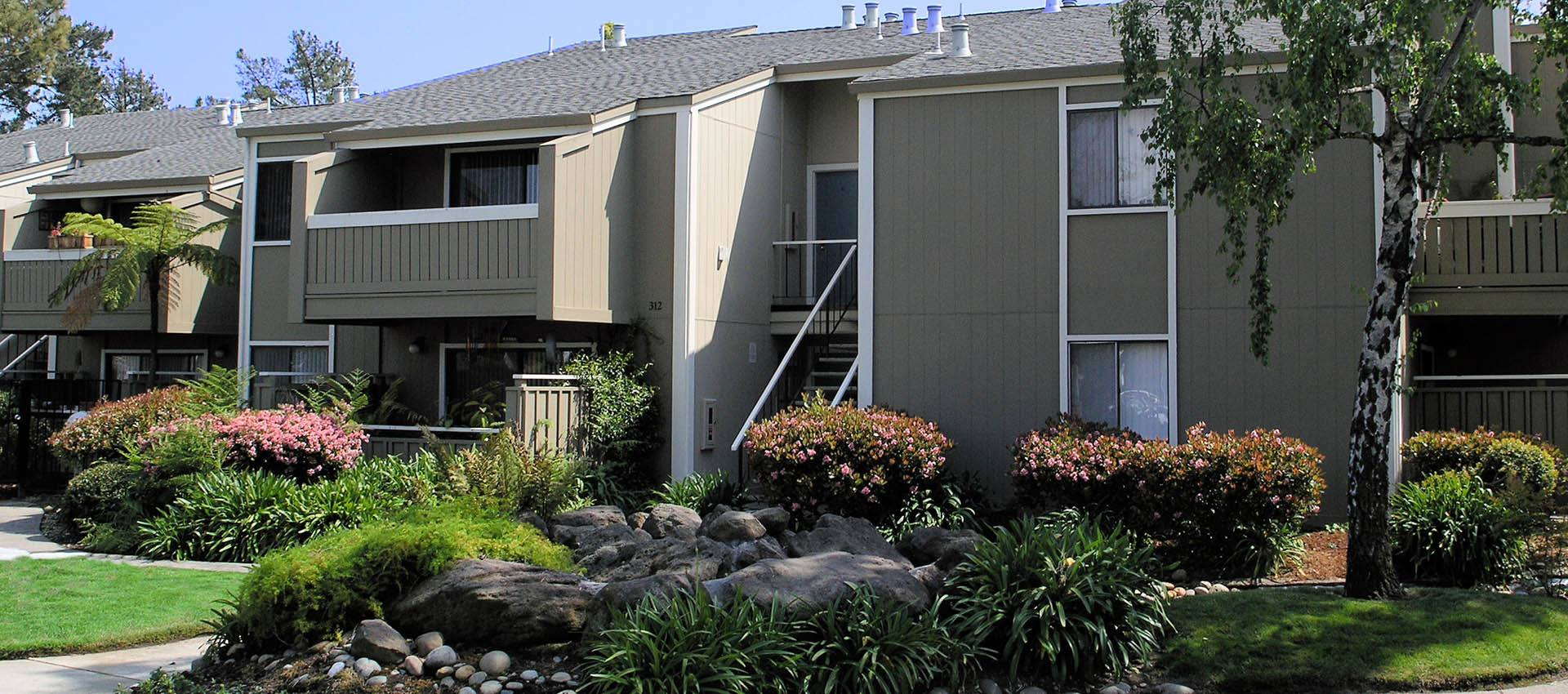 Landscaping at apartments in Alameda, CA