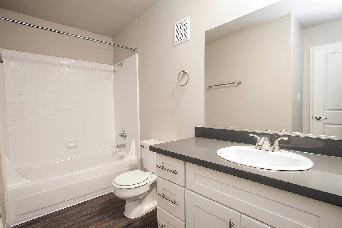 Bathroom layout at Ballena Village Apartment Homes in Alameda, CA