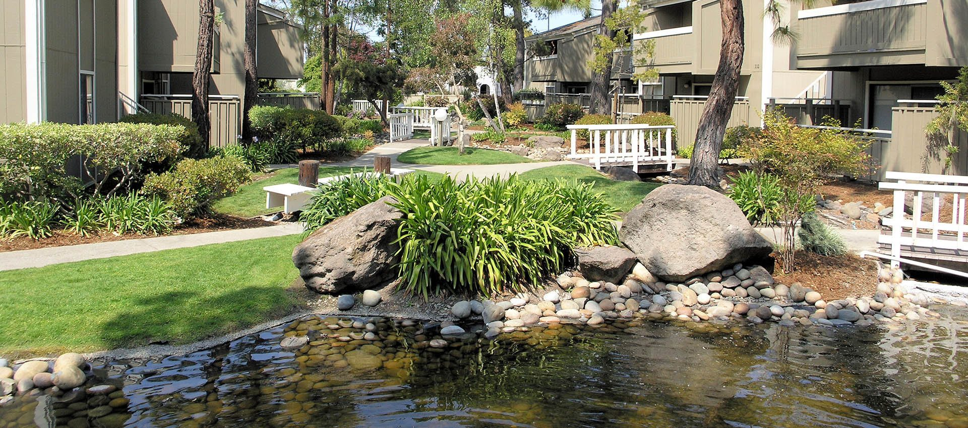 Pond at Ballena Village Apartment Homes in Alameda, CA