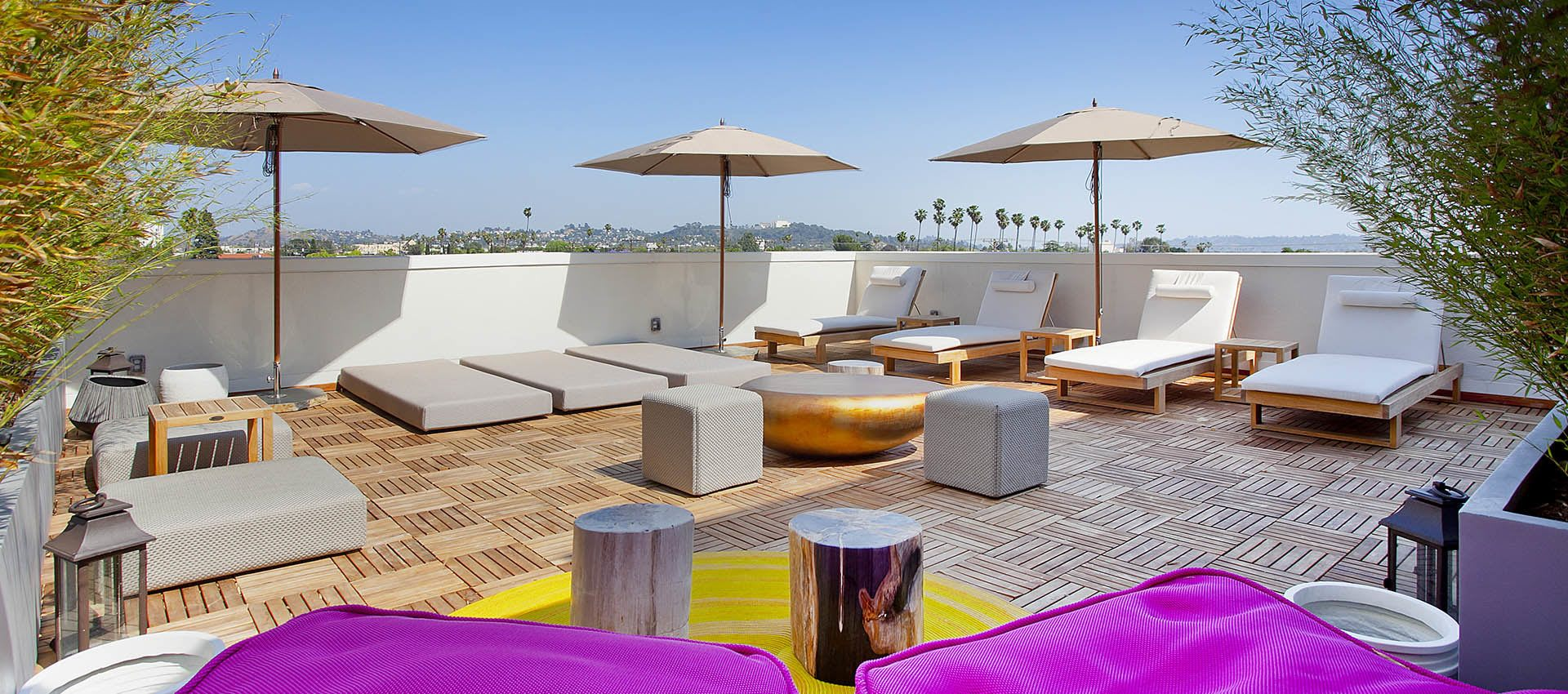 Rooftop lounge at Brio Apartment Homes