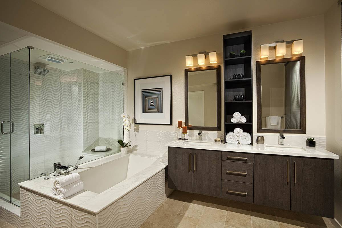 Spacious bathroom at Brio Apartment Homes