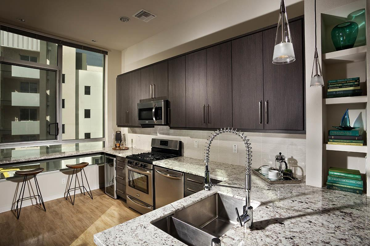 Beautiful granite countertops at apartments in Glendale