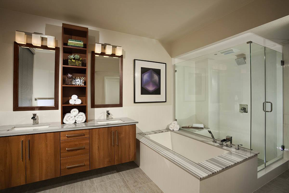 Bathroom layout at apartments in CA