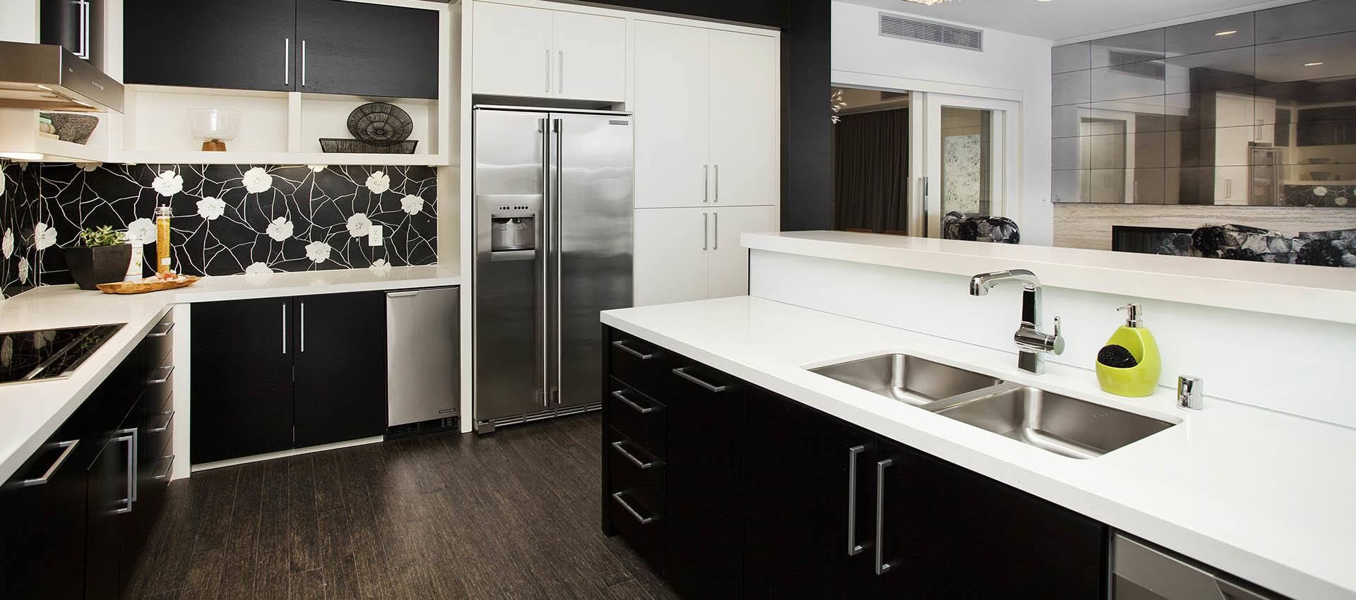 Kitchen With Hardwood Floors at apartments in Glendale, CA
