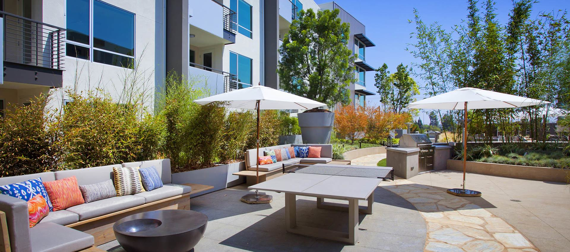 Patio at apartments in Glendale, CA