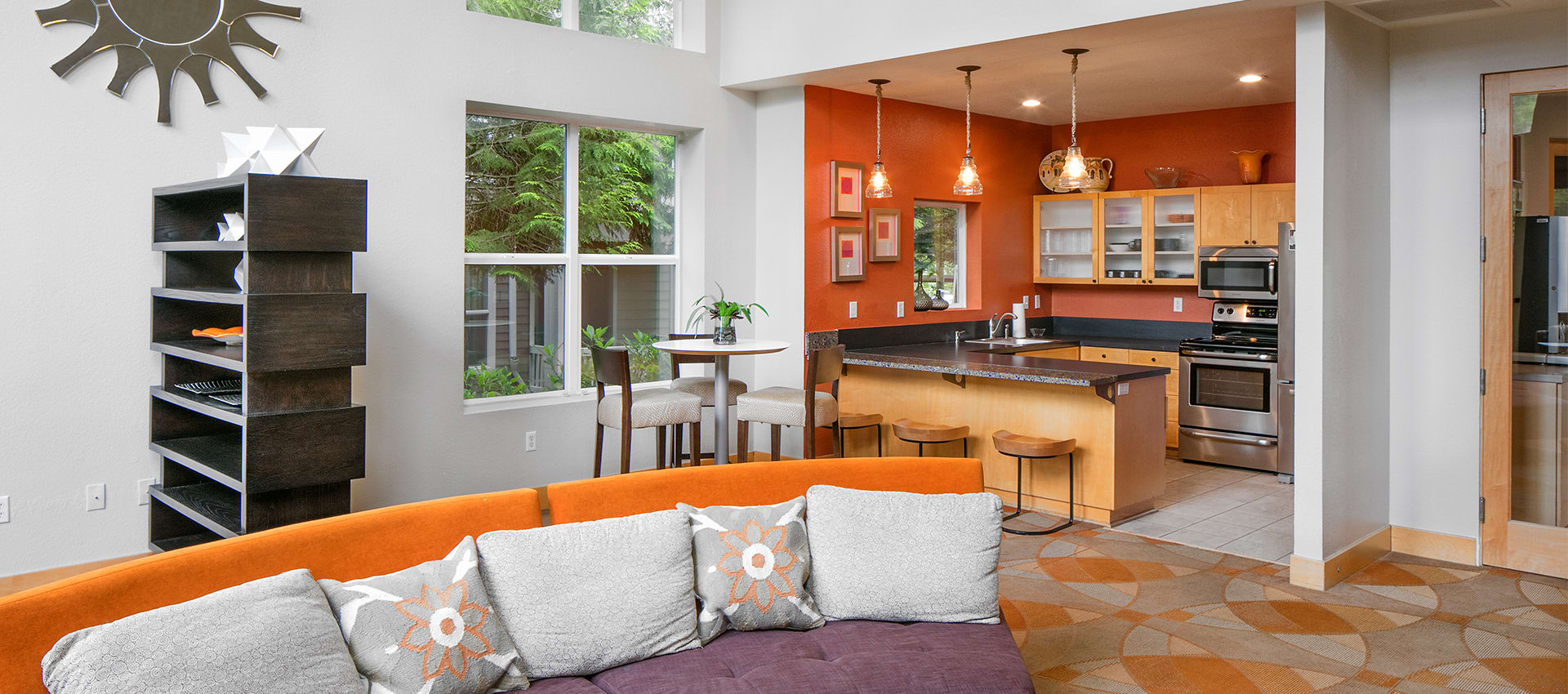Kitchen at Center Pointe Apartment Homes in Beaverton, Oregon