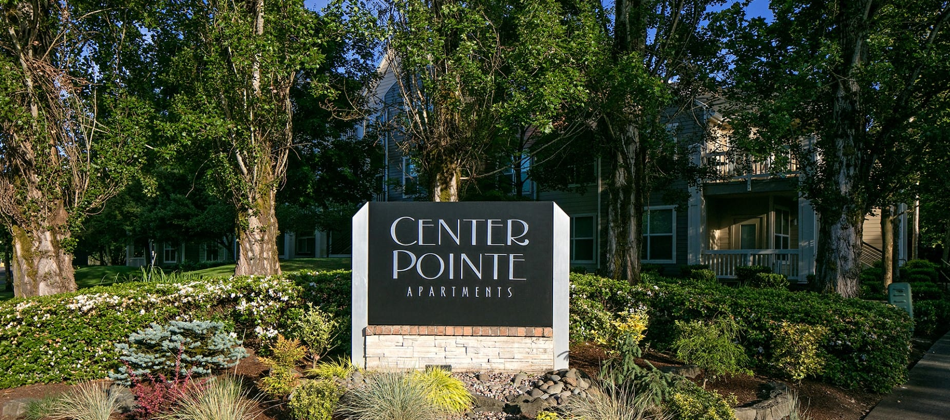 Signage at Center Pointe Apartment Homes in Beaverton, Oregon