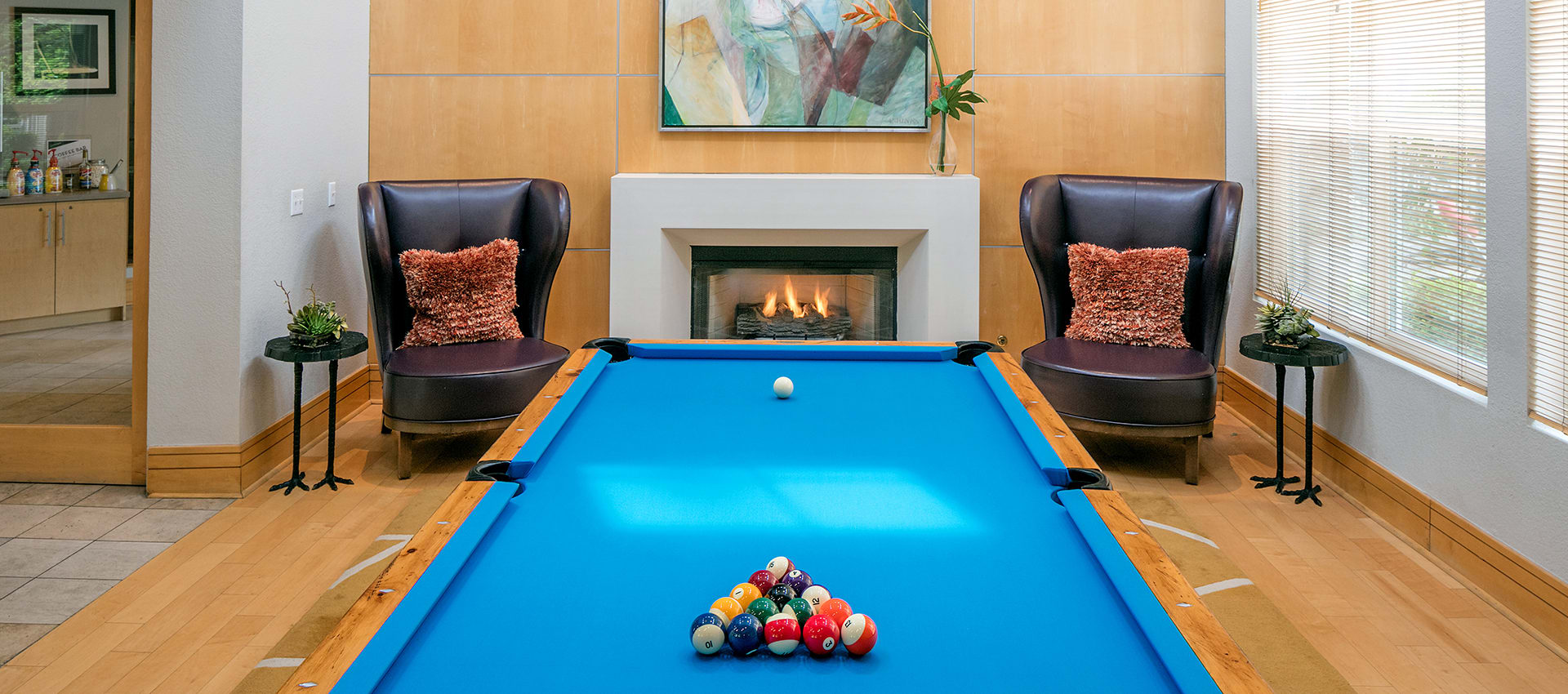 Billiards at Center Pointe Apartment Homes in Beaverton
