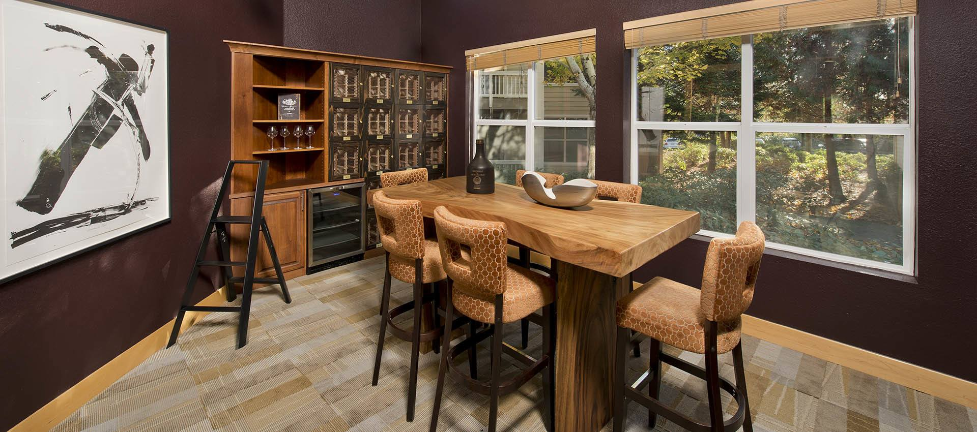 Tasting Room at Center Pointe Apartment Homes in Beaverton