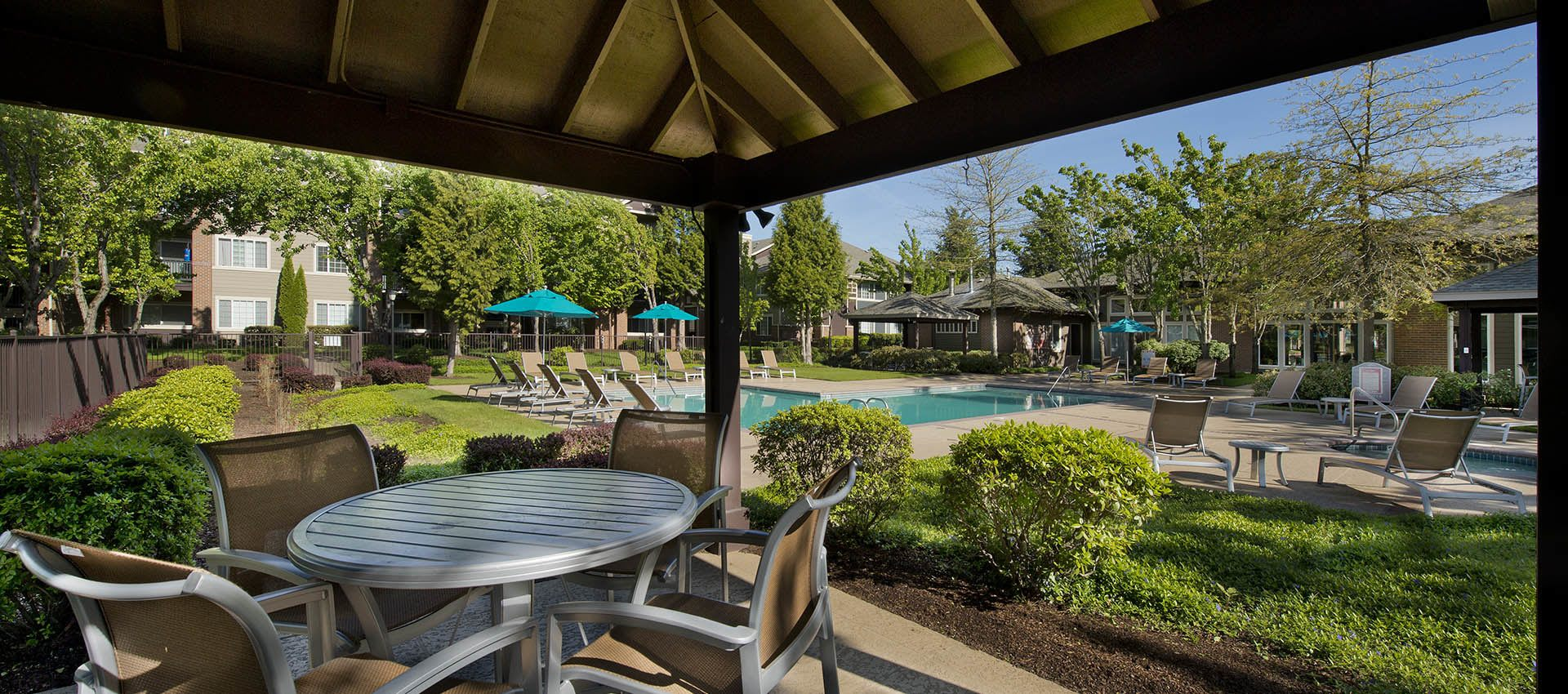 Poolside Cabanas at Cortland Village Apartment Homes in Hillsboro