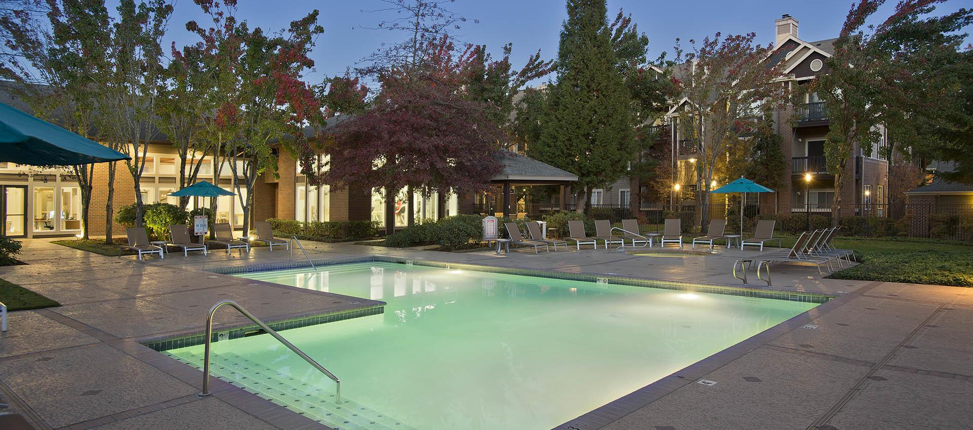Expansive Pool Deck with WiFi at Cortland Village Apartment Homes in Hillsboro