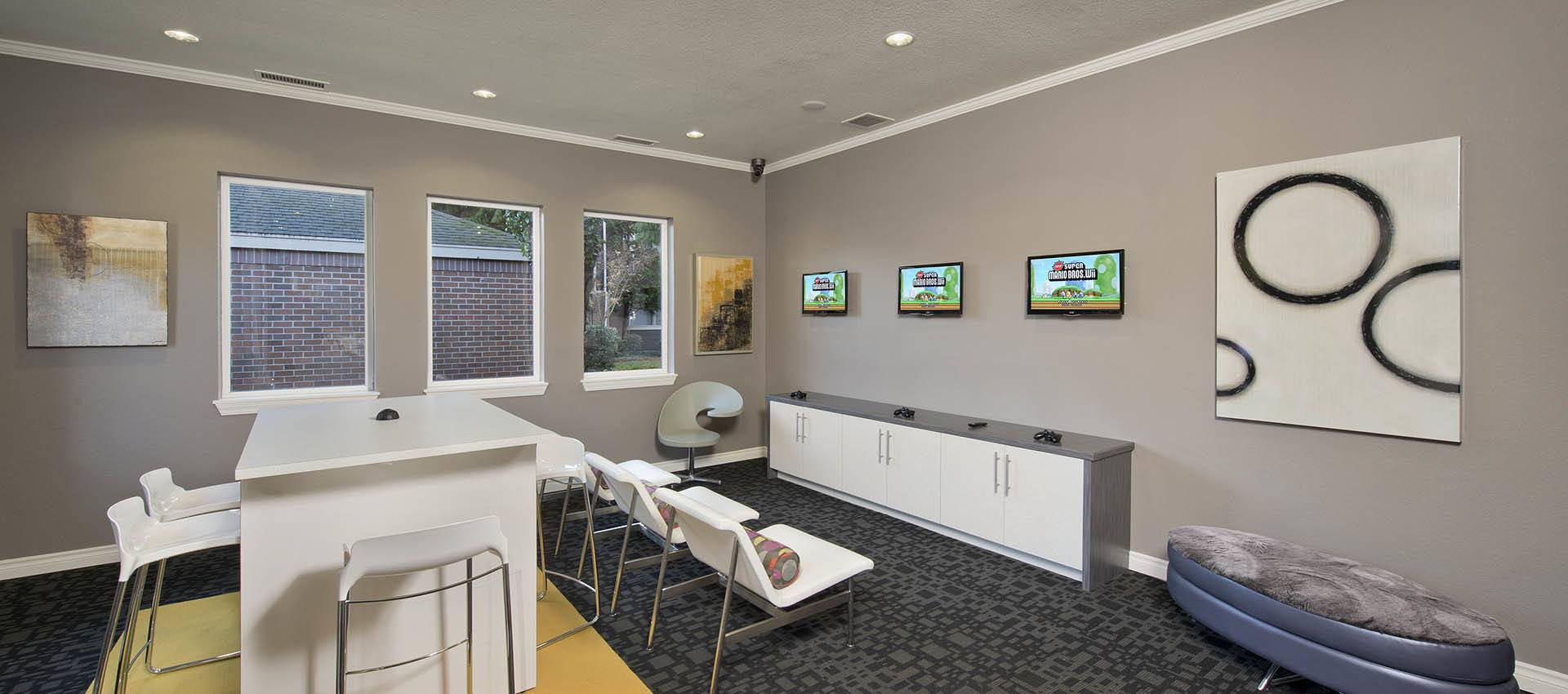 Game room at Cortland Village Apartment Homes in Hillsboro, OR