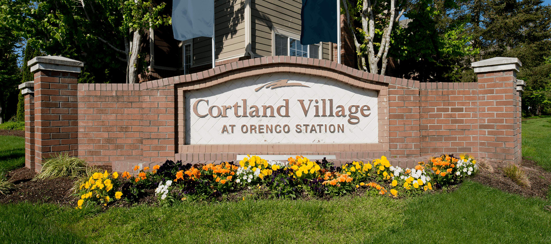 Signage at Cortland Village Apartment Homes in Hillsboro, OR