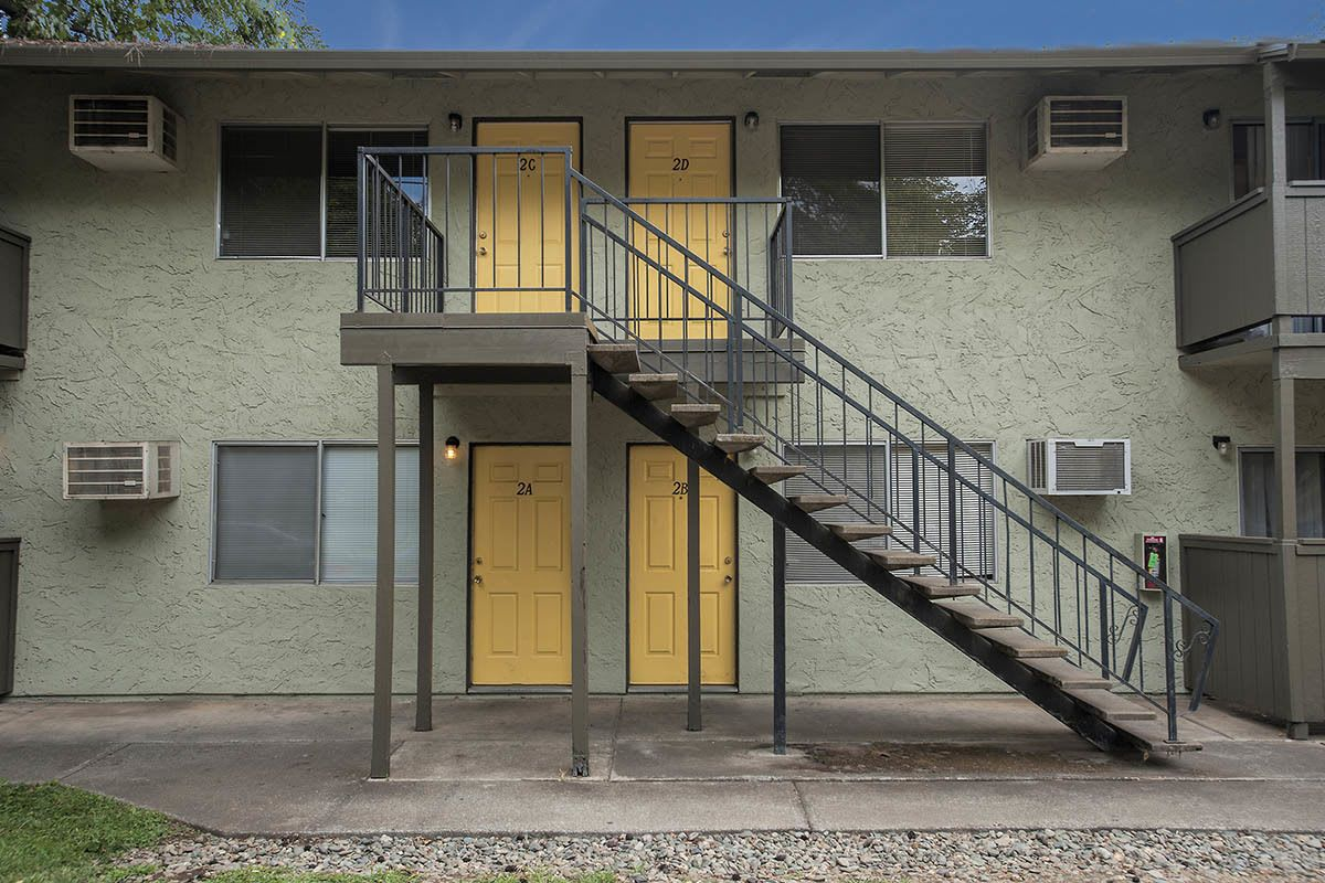 Exterior of student apartments in Chico, CA