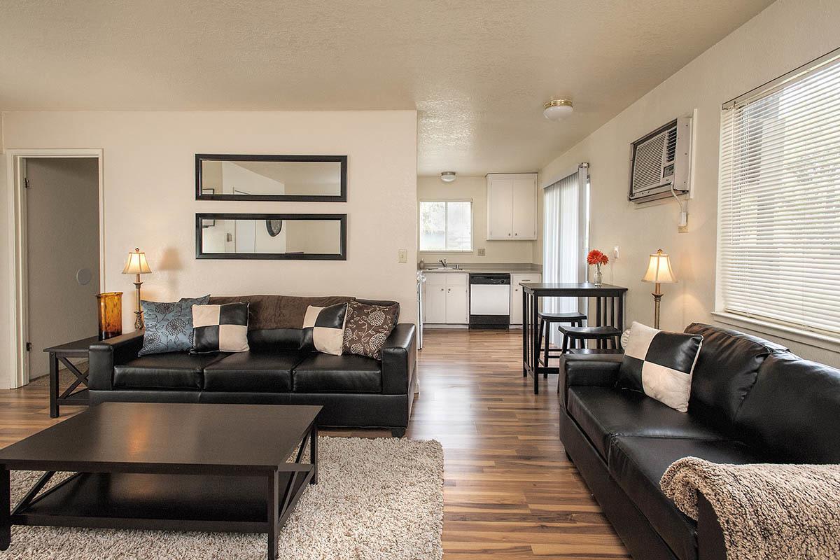 Interior of student apartments in Chico, CA