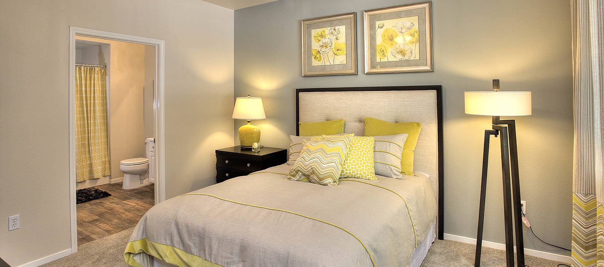 Spacious bedroom at Cross Pointe Apartment Homes in Antioch