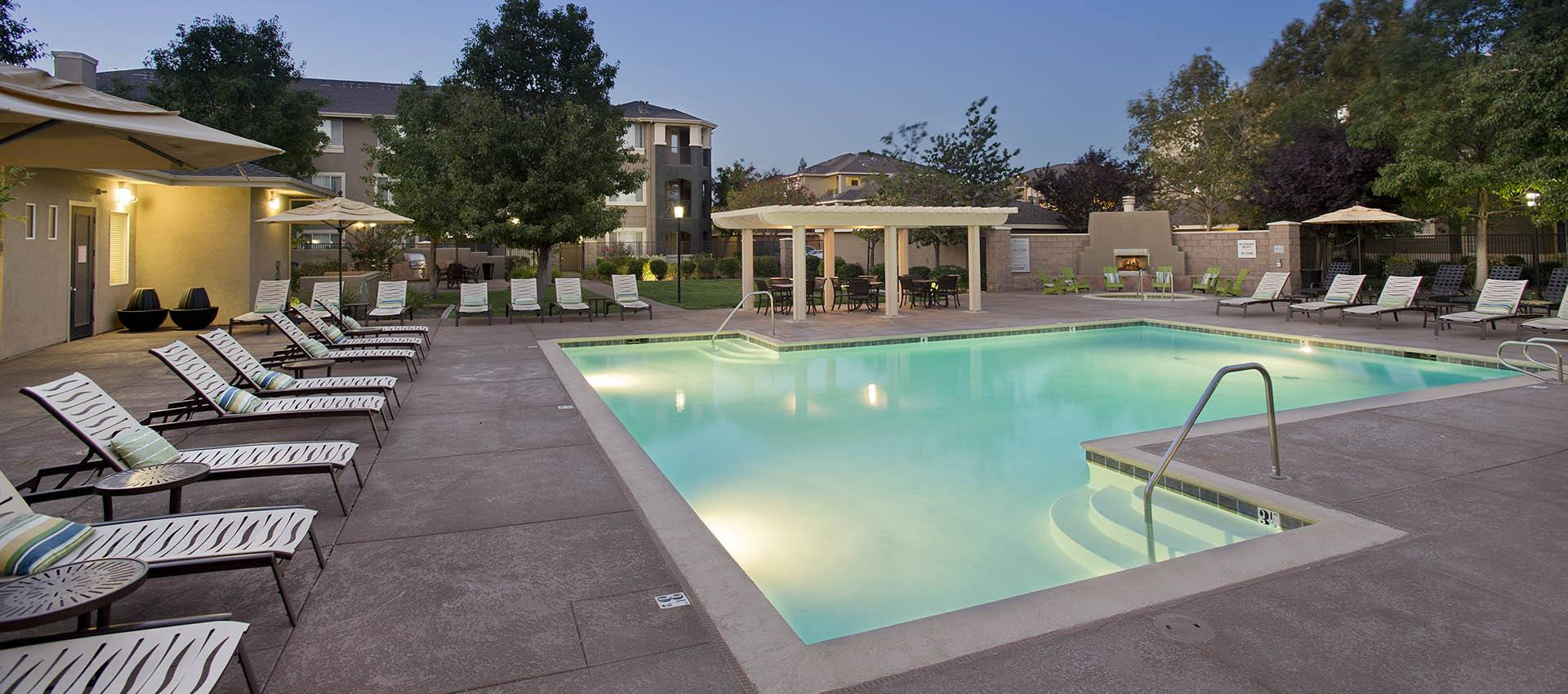 Outdoor pool at Cross Pointe Apartment Homes in Antioch