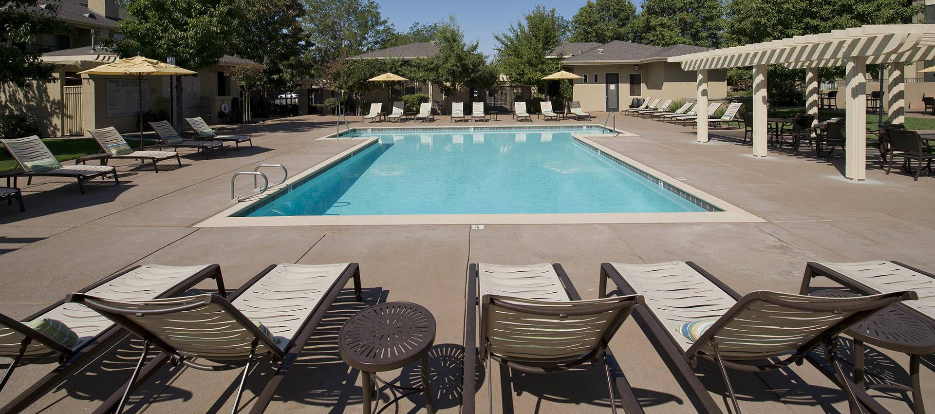 Expansive Pool Deck with WiFi at Cross Pointe Apartment Homes in Antioch