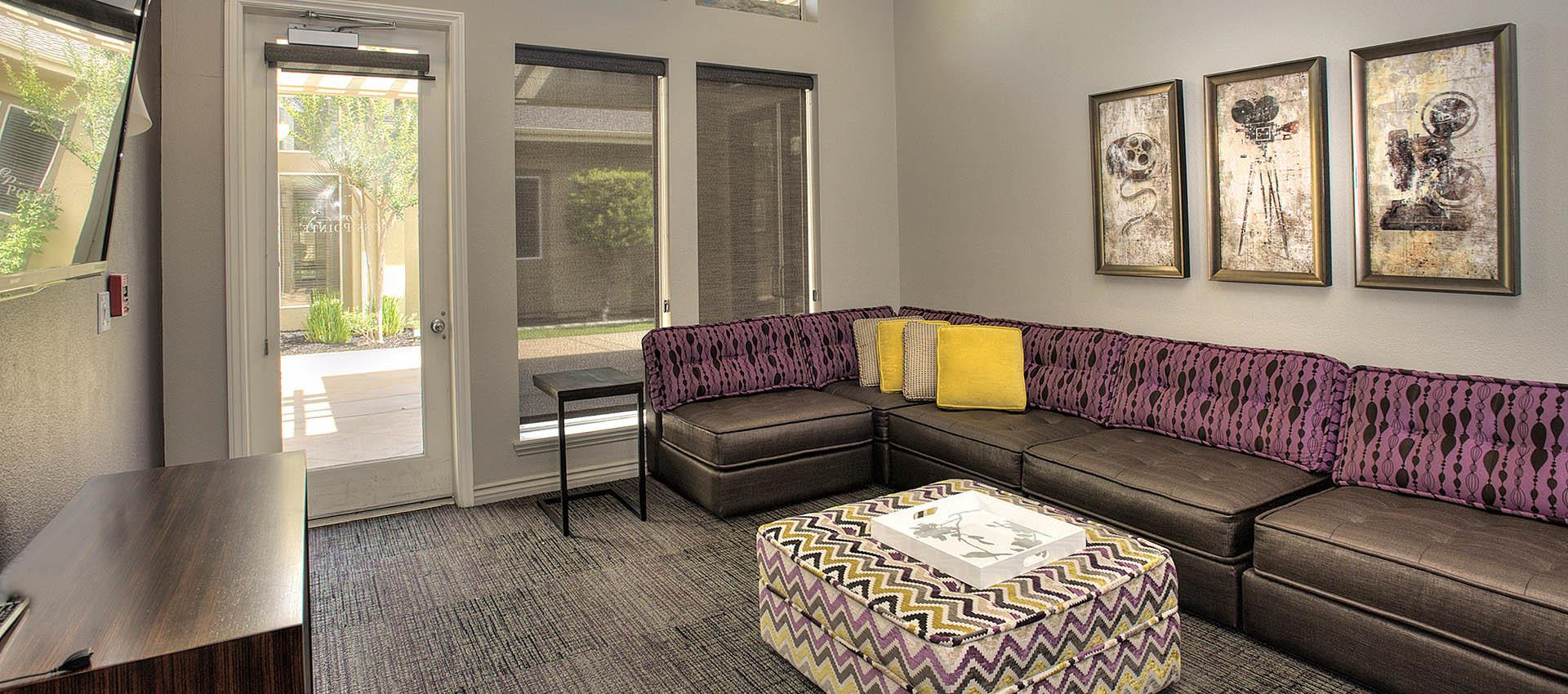 Resident screening room at Cross Pointe Apartment Homes in Antioch