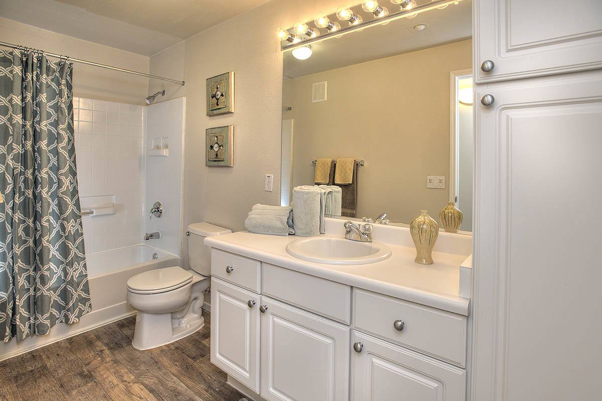 Upgraded Bathroom at Cross Pointe Apartment Homes in Antioch