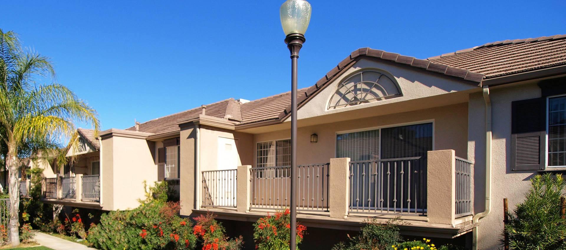 Building Exterior at Cypress Villas Apartment Homes in Redlands, CA