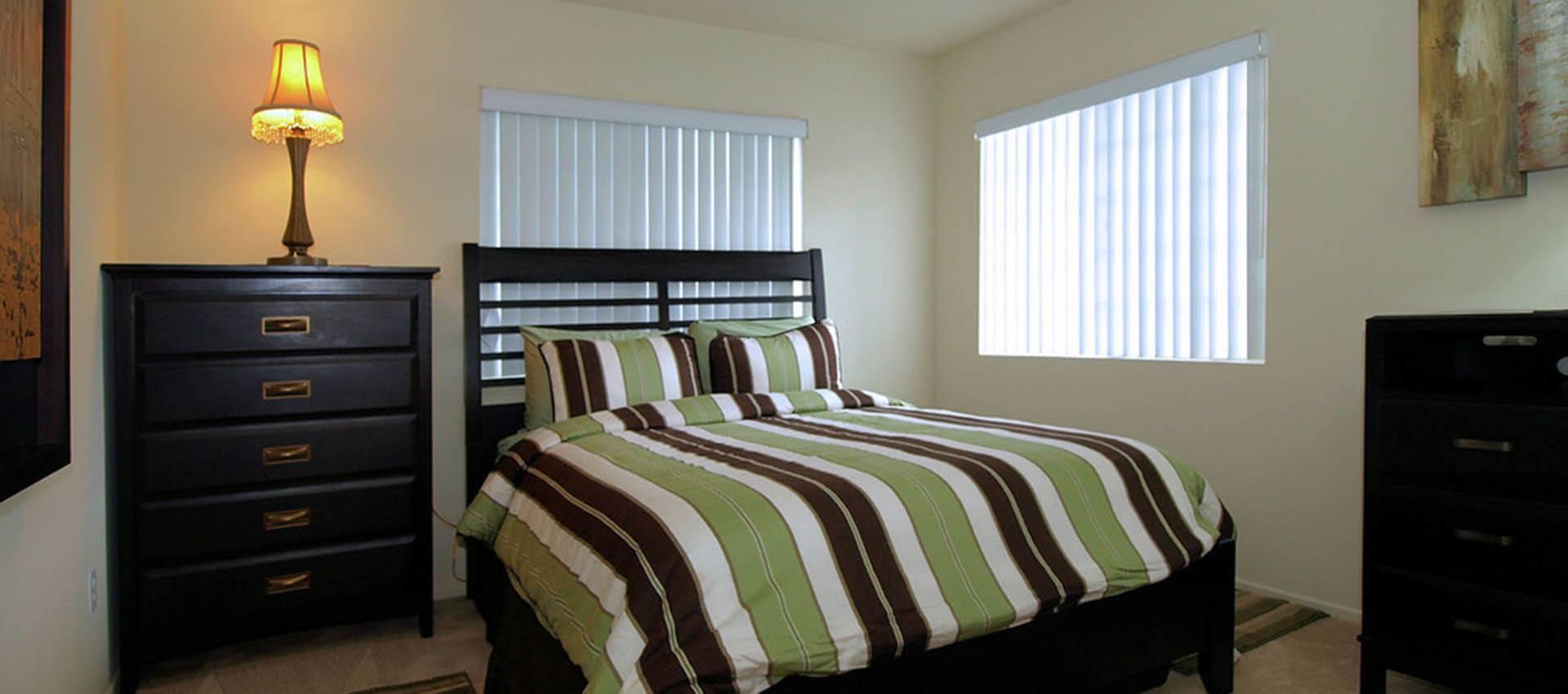 Master Bedroom at Cypress Villas Apartment Homes in Redlands, CA
