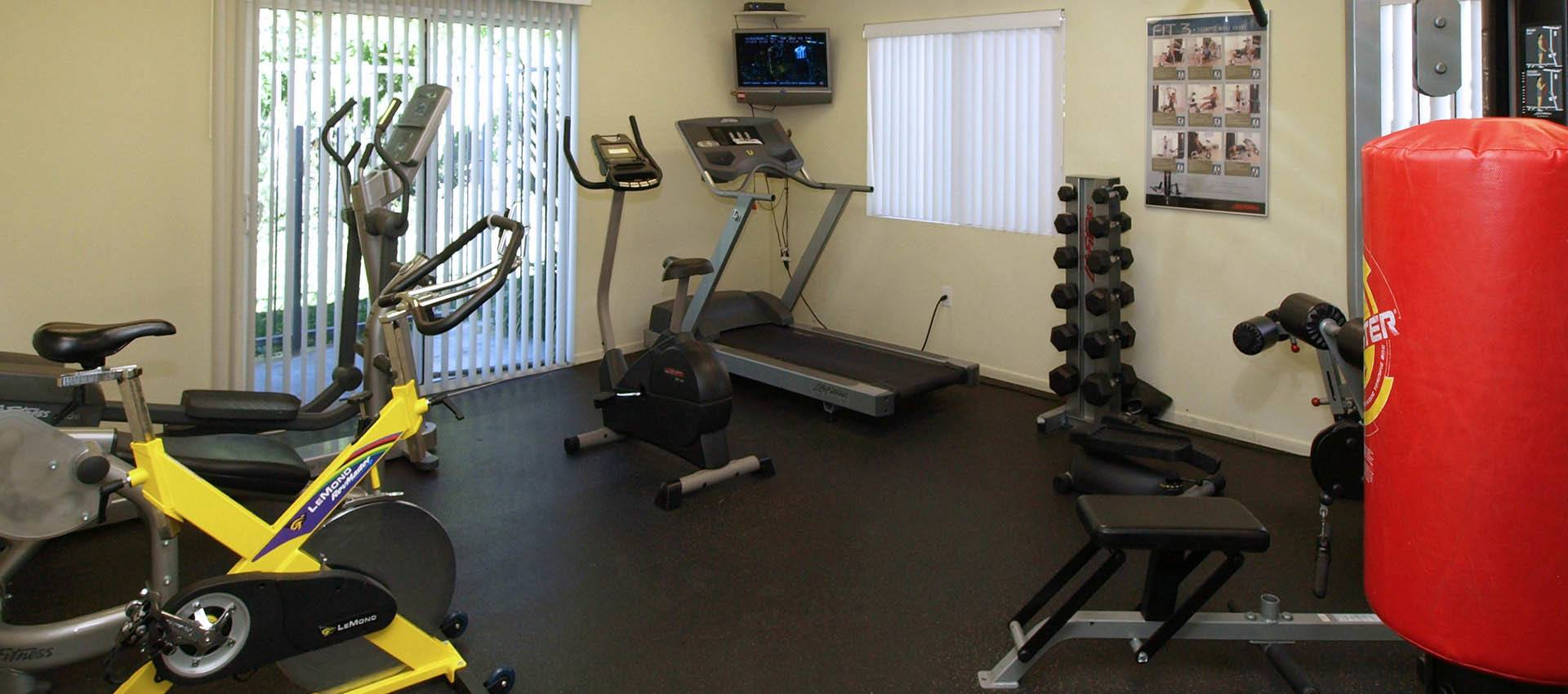 Resident's Fitness Center at Cypress Villas Apartment Homes in Redlands