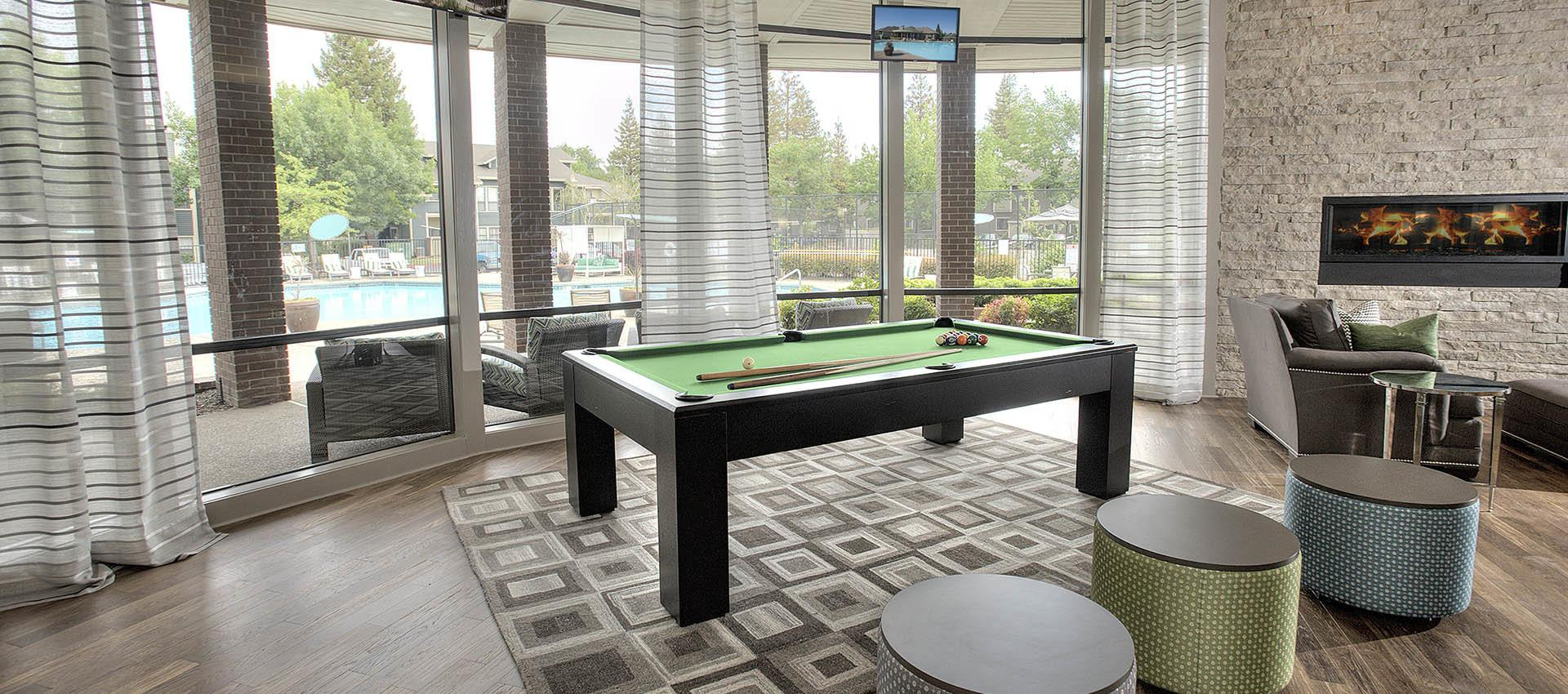 Billiards at Deer Valley Apartment Homes in Roseville, California