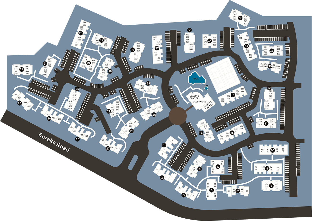 View a map of Deer Valley Apartment Homes in Roseville, California