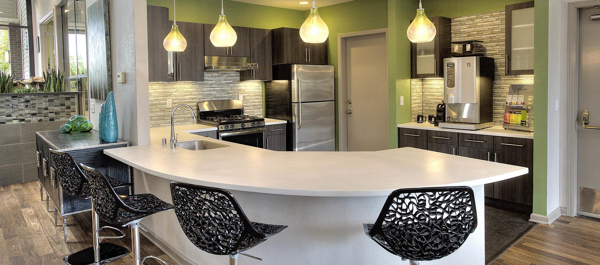 Kitchen Area In Clubhouse at Deer Valley Apartment Homes in Roseville, California