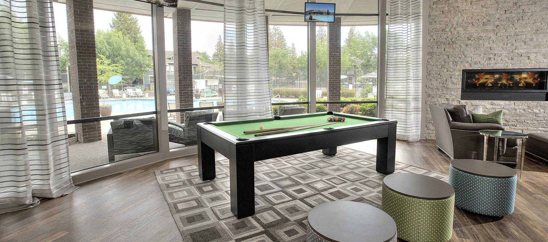 Pool Table at Deer Valley Apartment Homes in Roseville, California