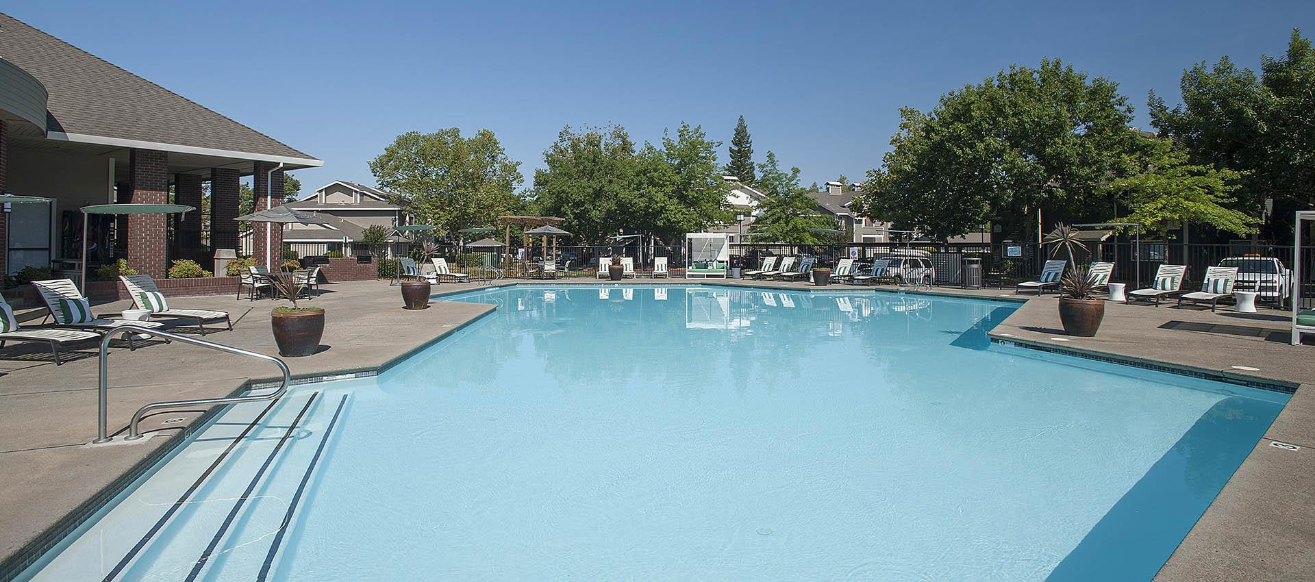 Resort Style Swimming Pool at Deer Valley Apartment Homes in Roseville, California
