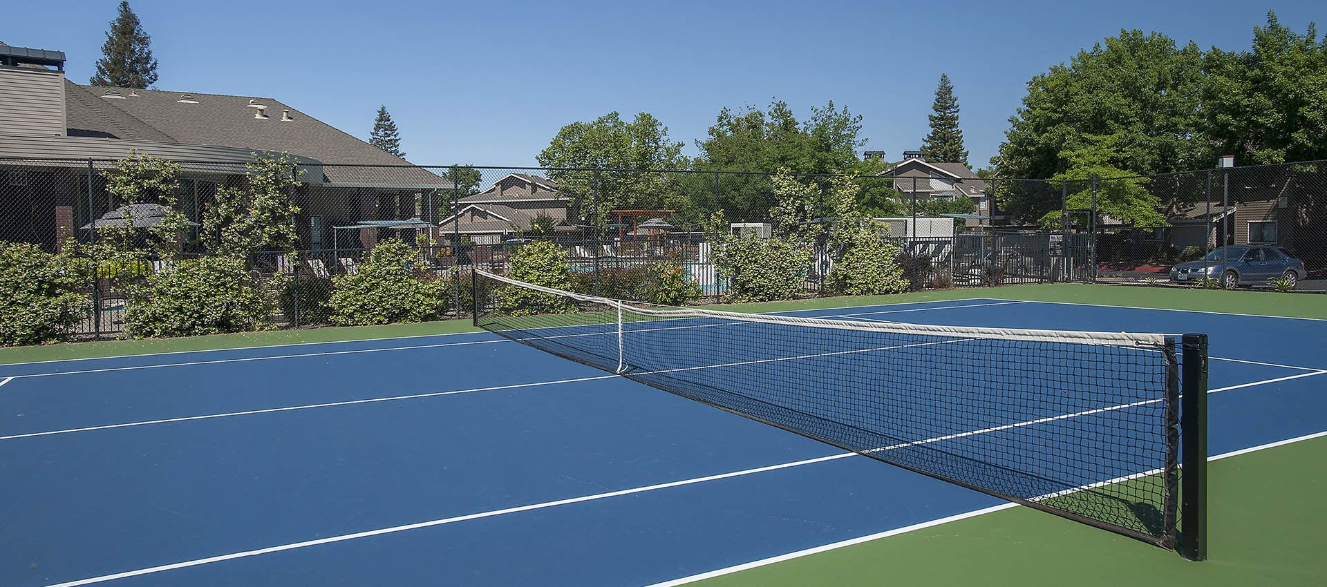 Resort Style Tennis Courts at Deer Valley Apartment Homes in Roseville, California