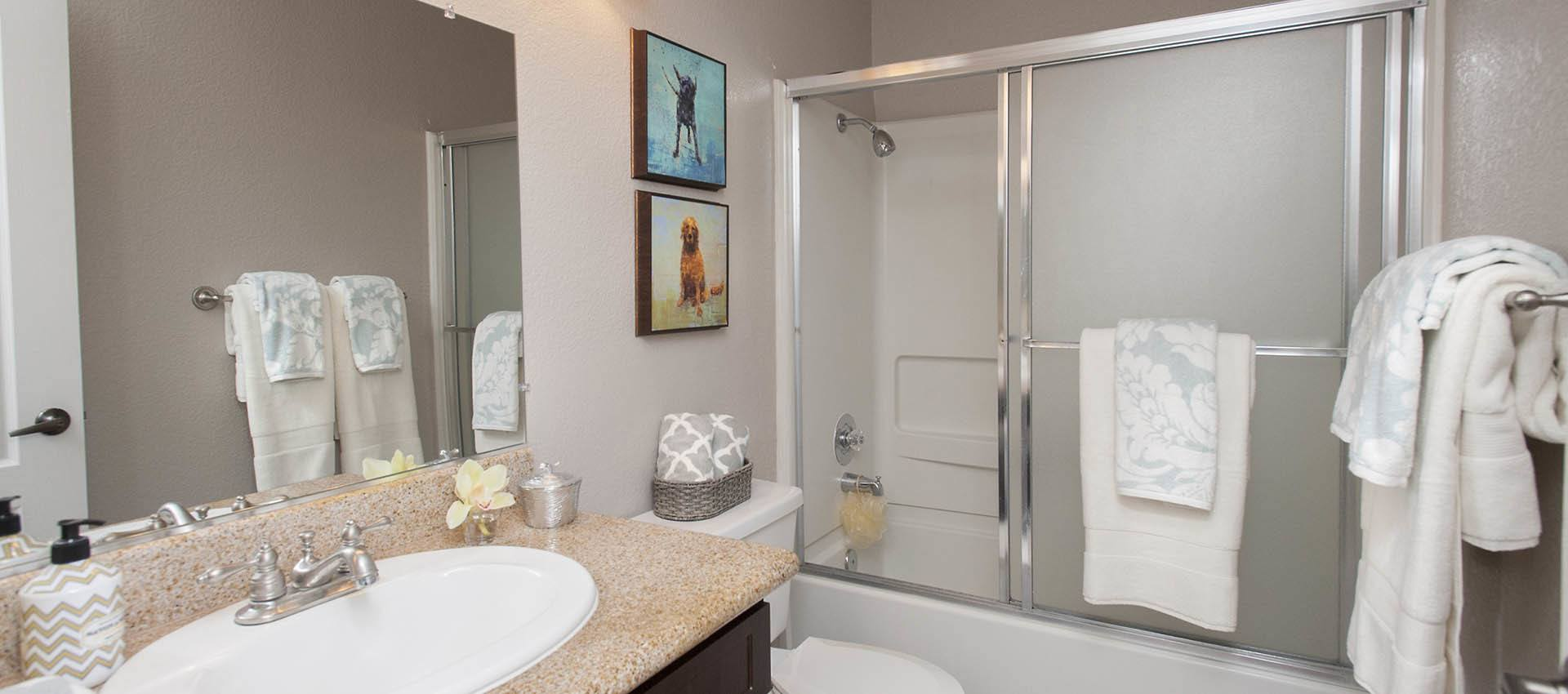 Spacious Bathroom at Deer Valley Apartment Homes in Roseville, California